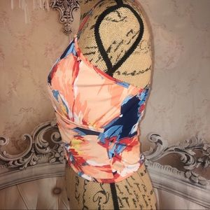 cheeky Tops - Summer Vibes Surplice Floral Crop Top